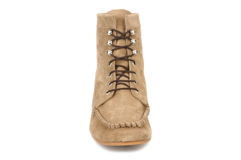 Bottines et boots Maloles Joyce Beige vue portées chaussures