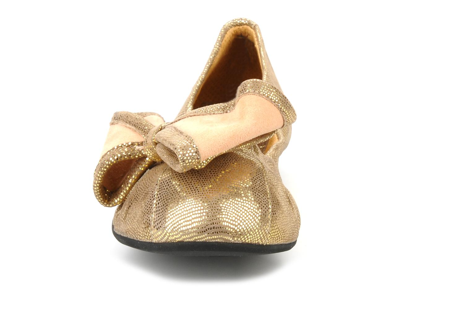 Ballet pumps Maloles Blanche Bronze and Gold model view