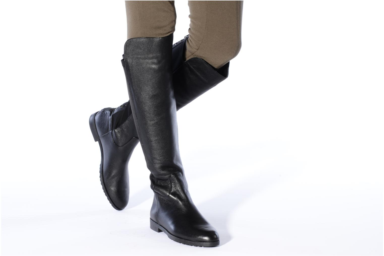 Stiefel Cafè Noir Alondra schwarz ansicht von unten / tasche getragen