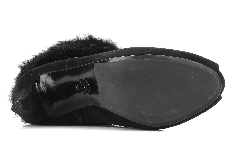 Bottines et boots Barachini Serpiento Noir vue haut