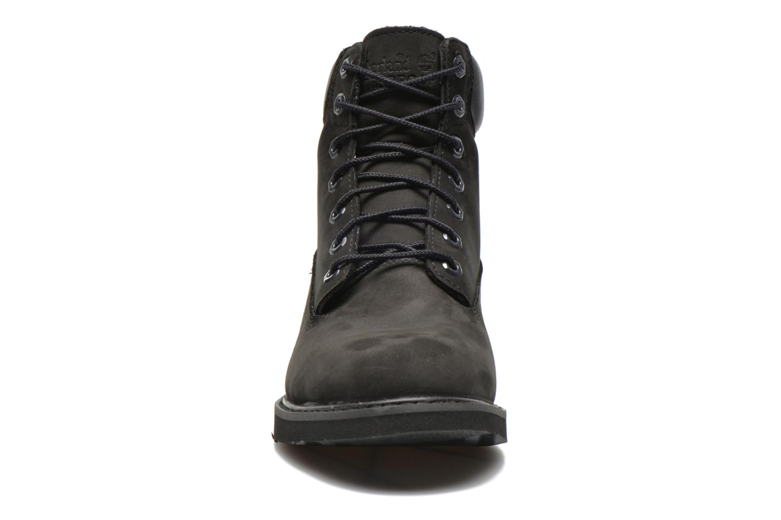 Bottines et boots Timberland 6 in wedge Noir vue portées chaussures