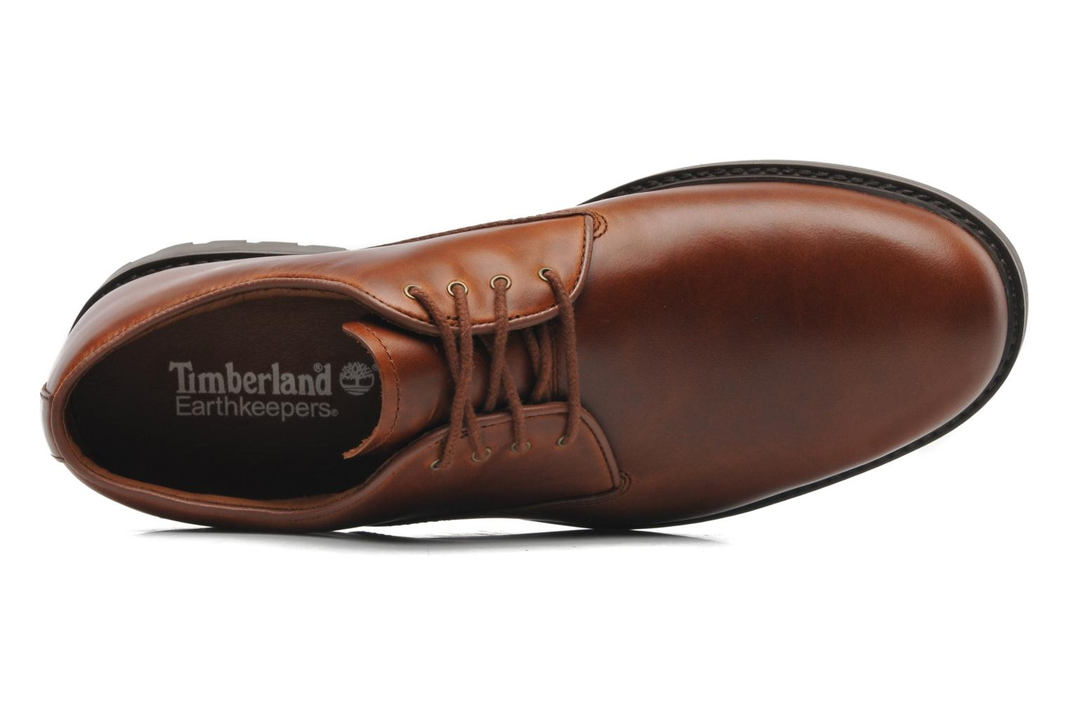 Veterschoenen Timberland Earthkeepers Stormbuck Plain Toe Oxford Bruin links