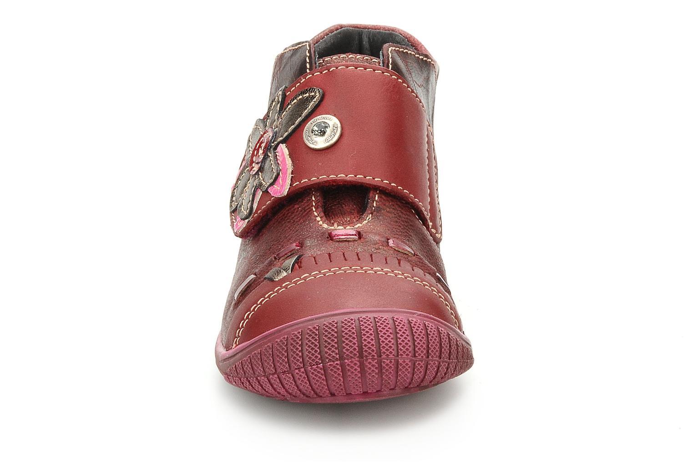 Chaussures à scratch Catimini Cati a23 Bordeaux vue portées chaussures