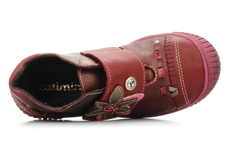 Chaussures à scratch Catimini Cati a23 Bordeaux vue gauche