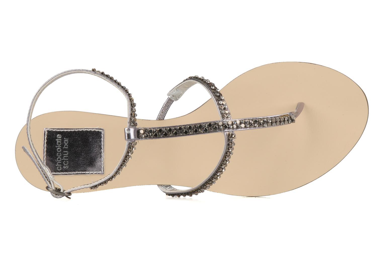 Sandalen Chocolate Schubar Diamond grau ansicht von links