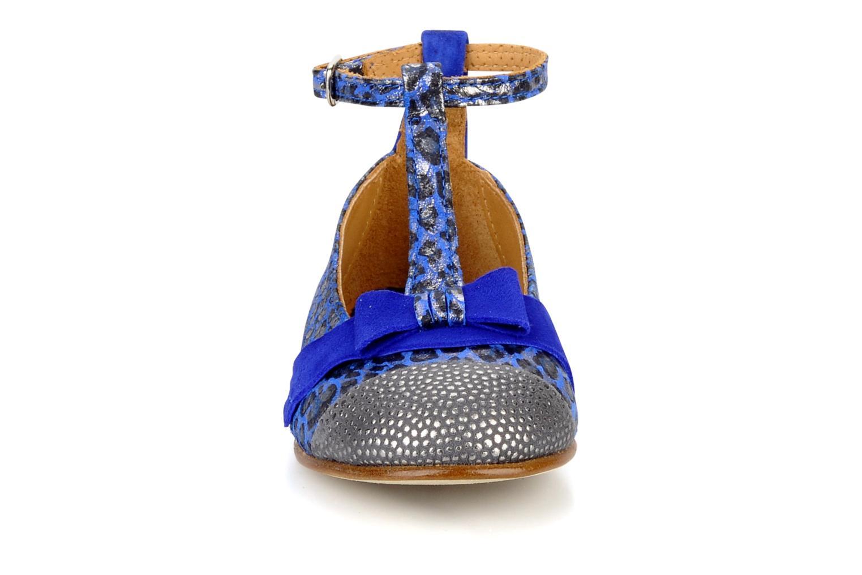 Petite ardi Dots leather cendre suede blue klein