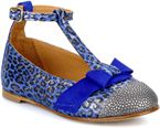 Dots leather cendre suede blue klein