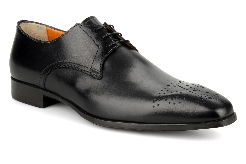 Schnürschuhe Santoni Marlone 11020 schwarz detaillierte ansicht/modell