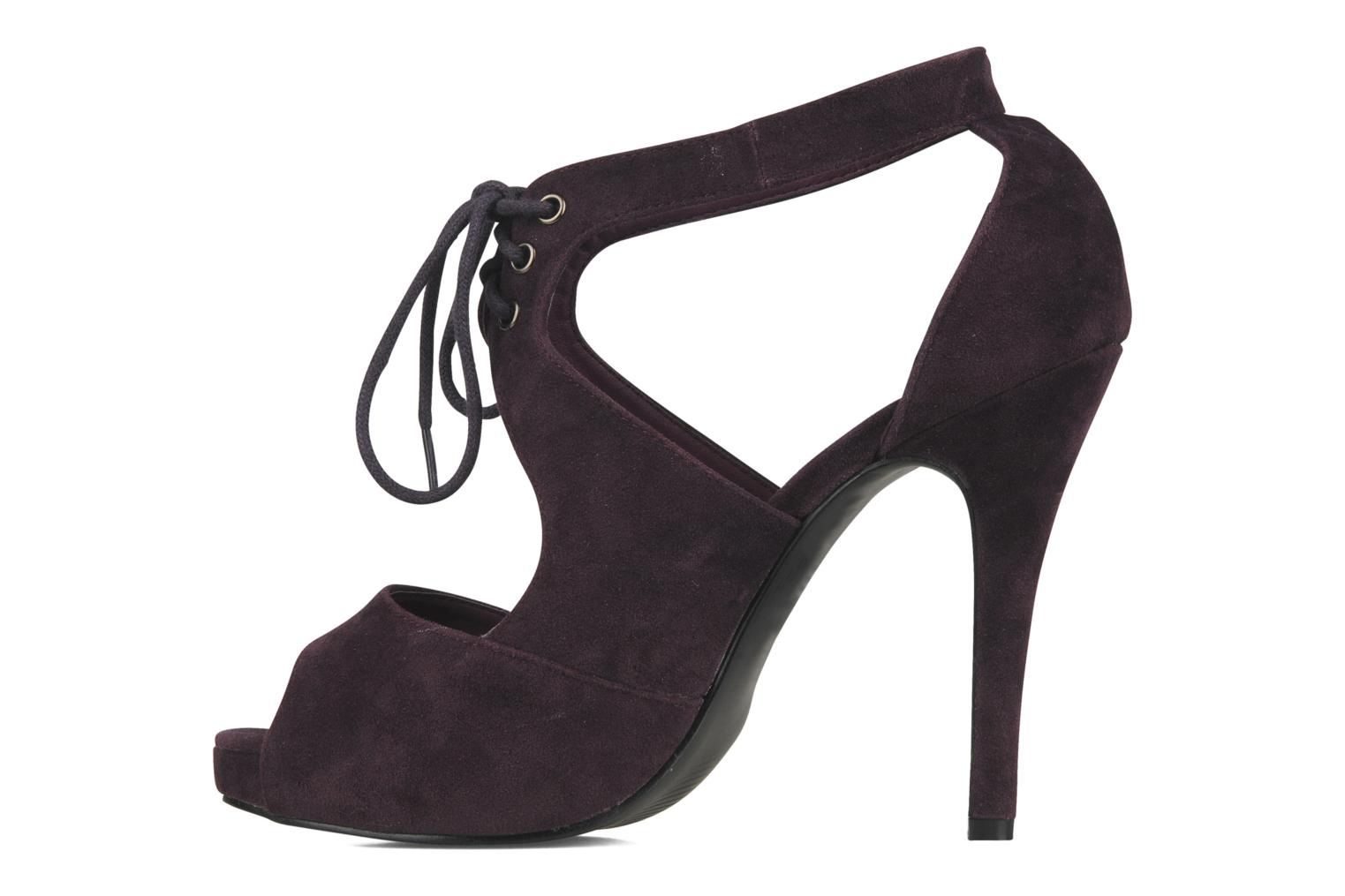 Helana Purple synthetic suede