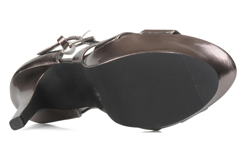 Sandales et nu-pieds Spot On Clochette Or et bronze vue haut