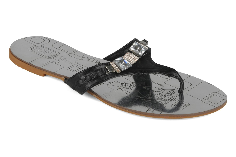 Zehensandalen Spot On Tongo schwarz detaillierte ansicht/modell