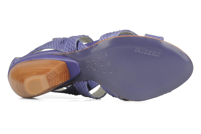 Sandales et nu-pieds Miezko Lina Violet vue haut