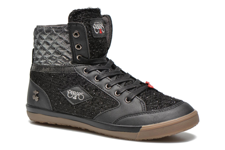 Sneakers Le temps des cerises Heritage Zwart detail
