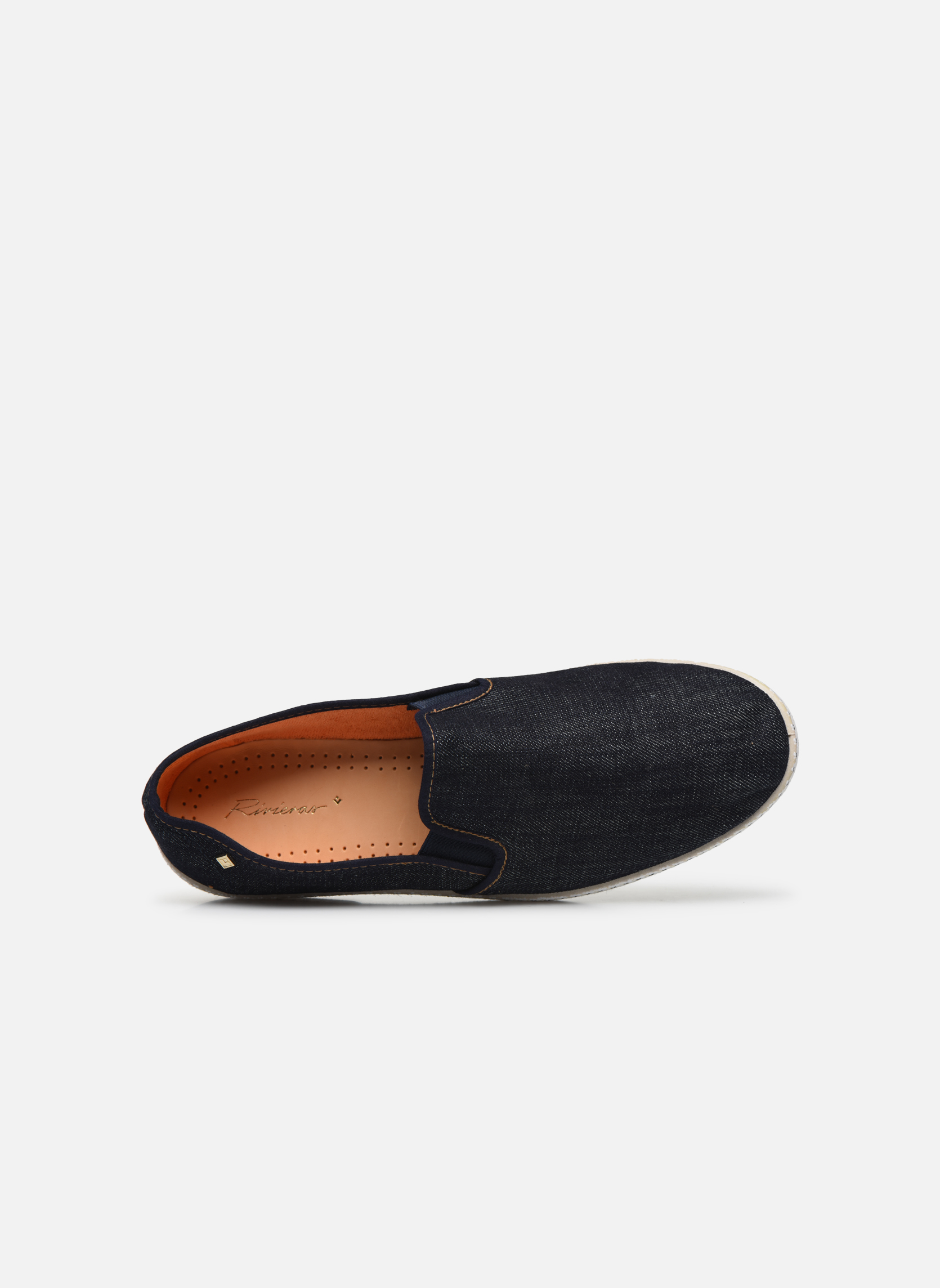 Espadrilles Rivieras Jean m Blue view from the left