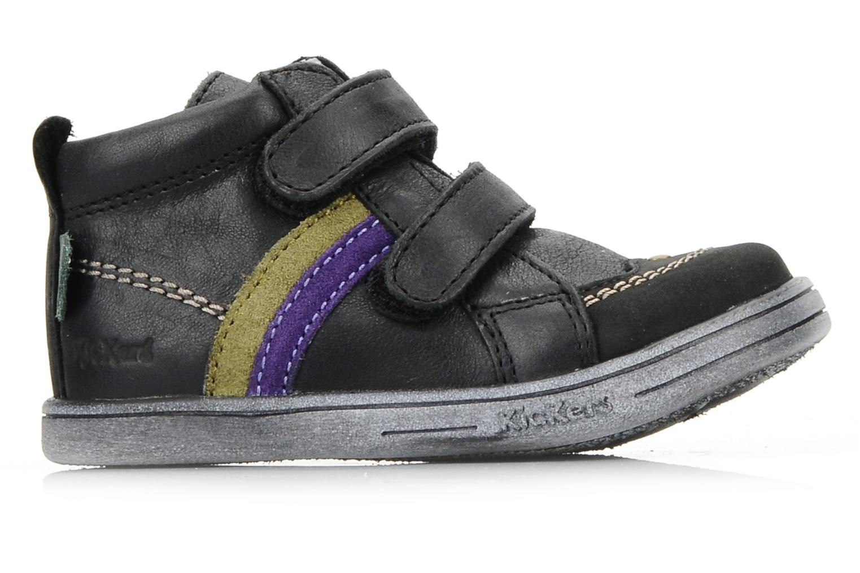 Schoenen met klitteband Kickers Taylor Zwart achterkant