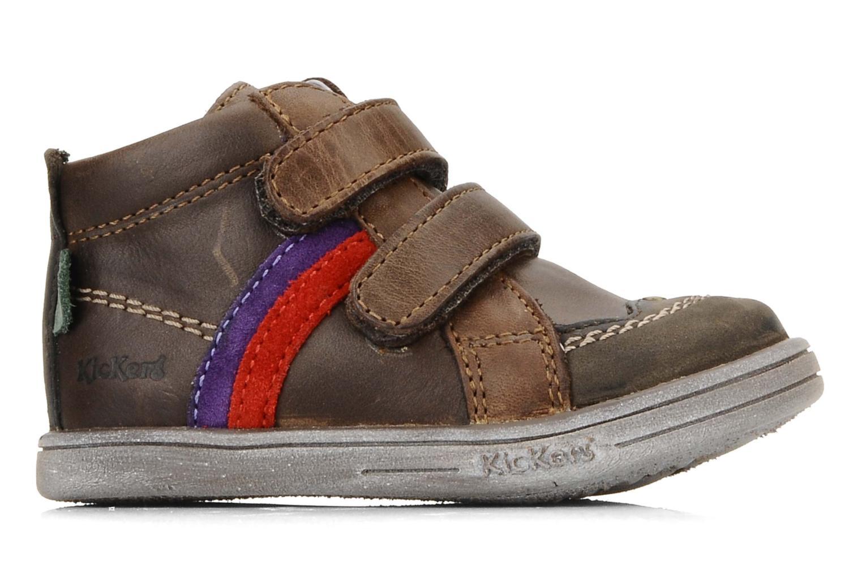 Schoenen met klitteband Kickers Taylor Bruin achterkant