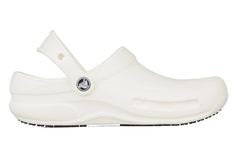 Clogs & Pantoletten Crocs Bistro w weiß ansicht von hinten