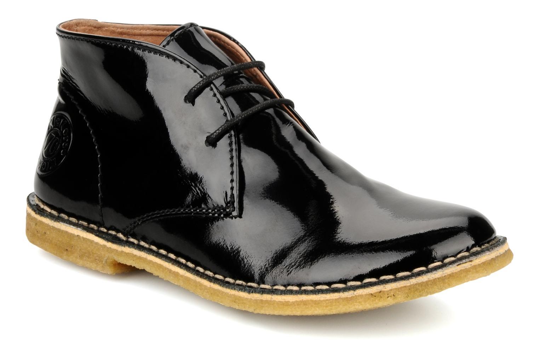 Chaussures à lacets Kickers Crepy Noir vue détail/paire
