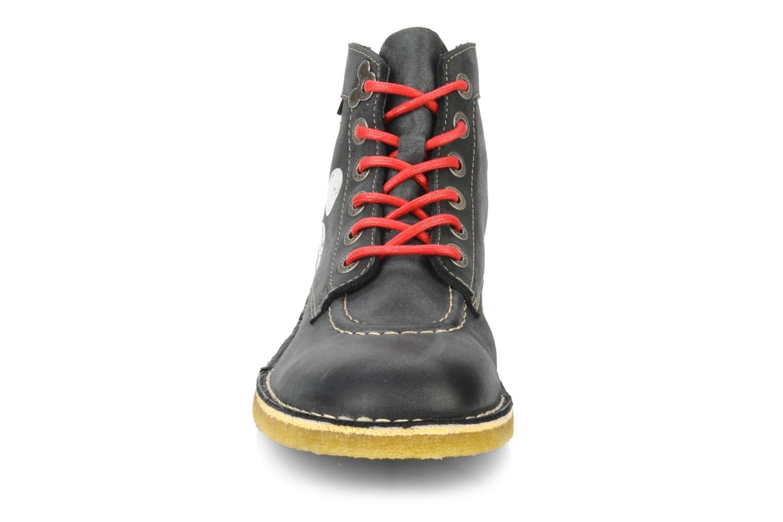 Bottines et boots Kickers Legend mickey Gris vue portées chaussures