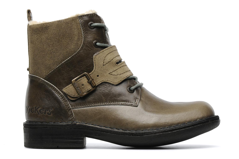 Boots en enkellaarsjes Kickers Rockshow Groen achterkant