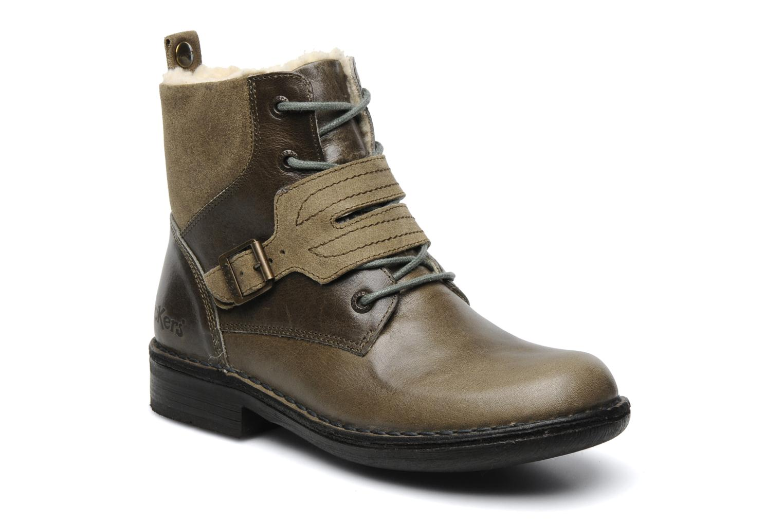 Boots en enkellaarsjes Kickers Rockshow Groen detail
