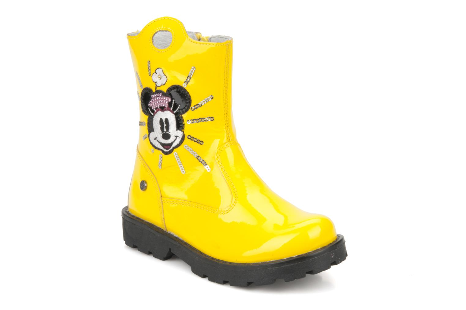 Ankle boots Disney by Naturino Disney 758 Yellow detailed view/ Pair view
