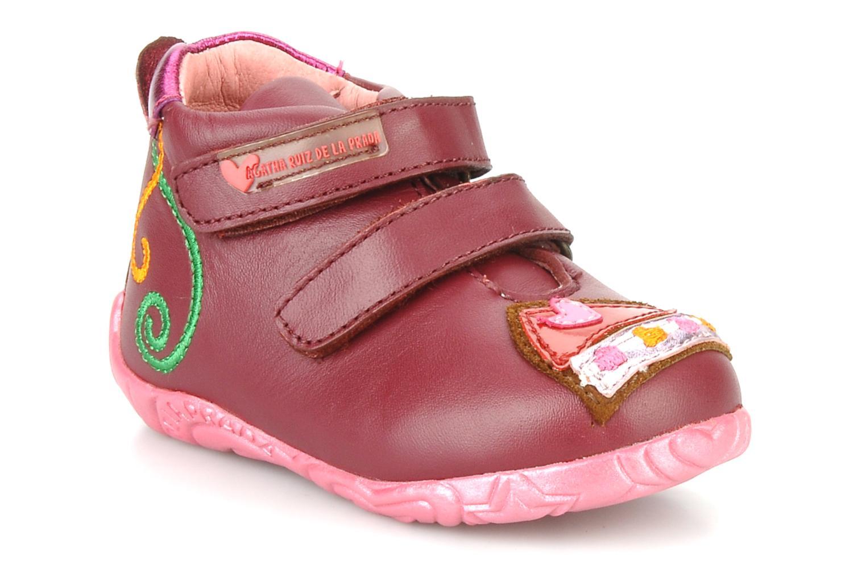 Chaussures à scratch Agatha Ruiz de la Prada Arone Rose vue détail/paire