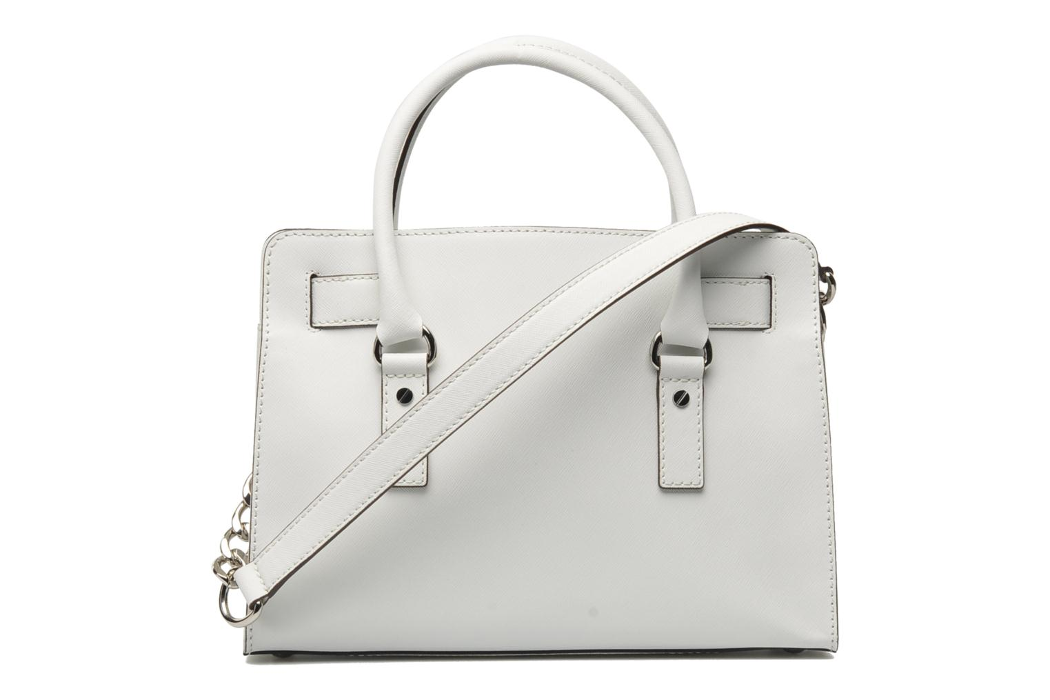 HAMILTON EW Satchel Saffiano Optic white