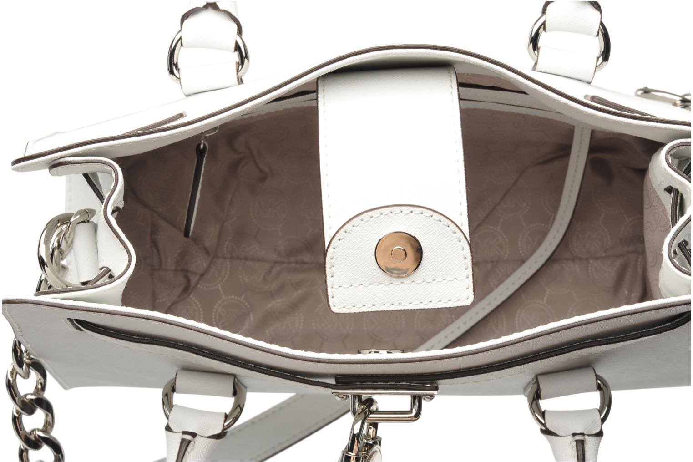 Handtaschen Michael Michael Kors HAMILTON EW Satchel weiß ansicht von hinten