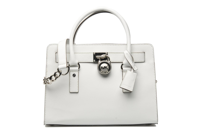 Handtaschen Michael Michael Kors HAMILTON EW Satchel weiß detaillierte ansicht/modell