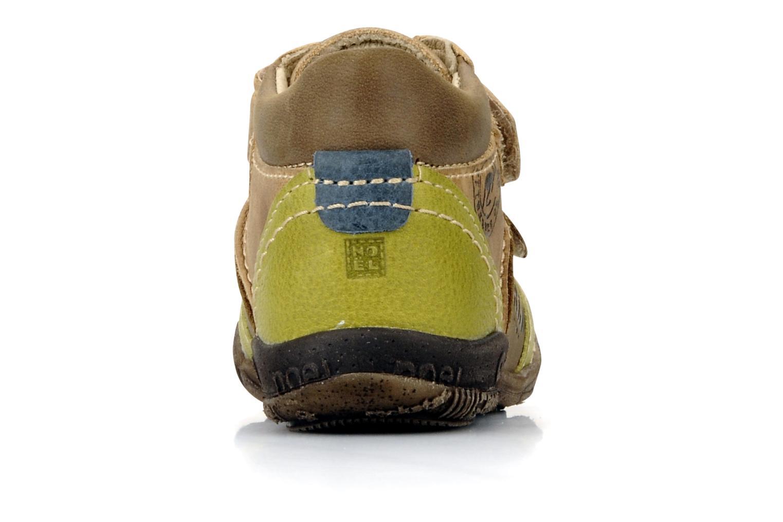 Chaussures à scratch Noël Mini riton Marron vue droite