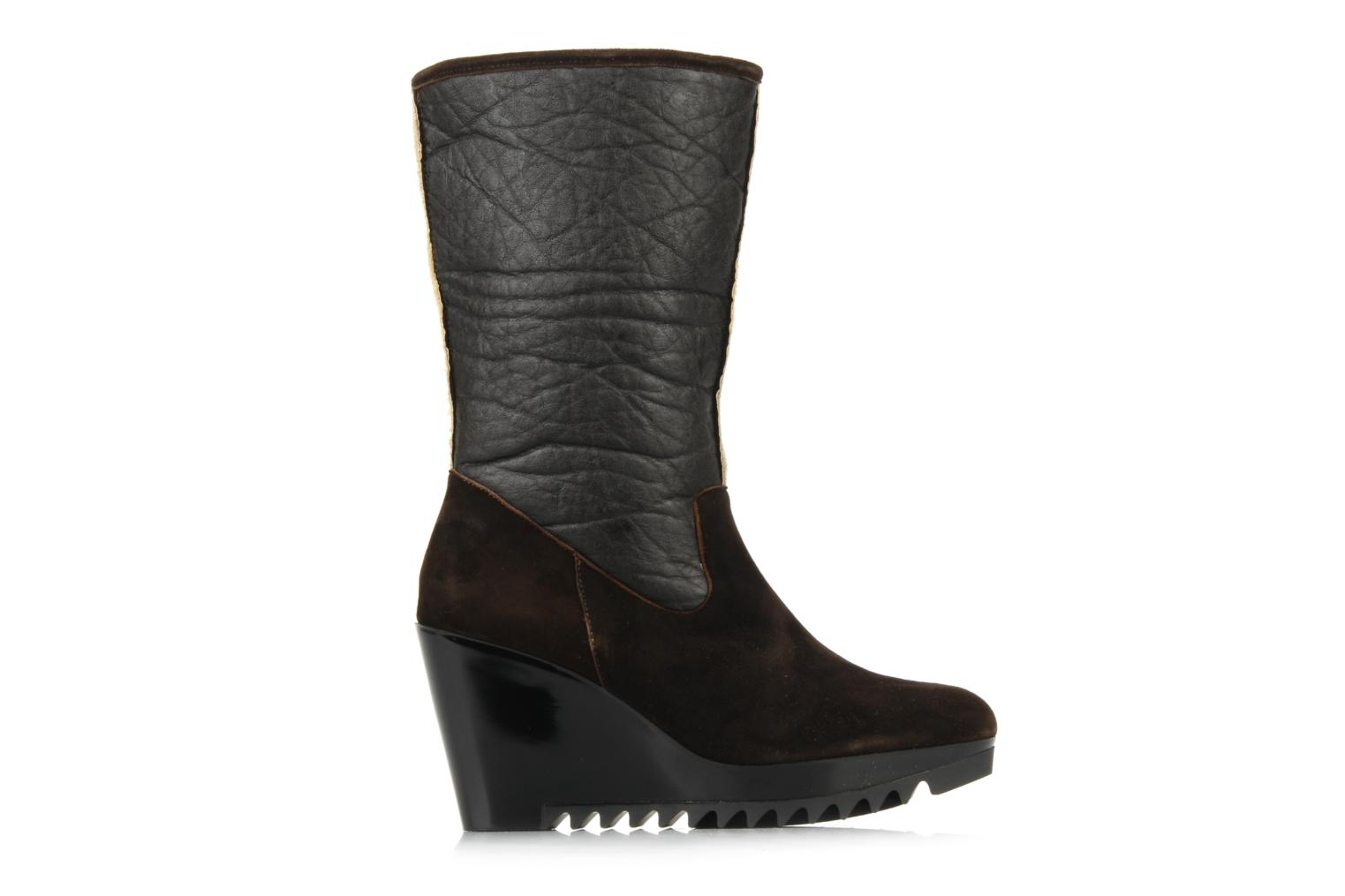 Ankle boots Espace Caida Brown back view