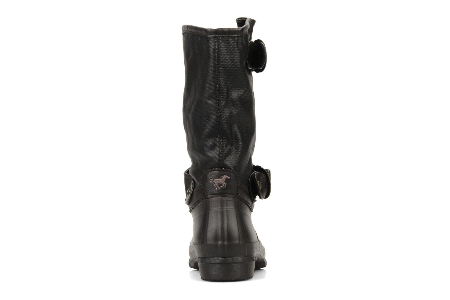 Ankle boots Mustang shoes Enrica Brown view from the right