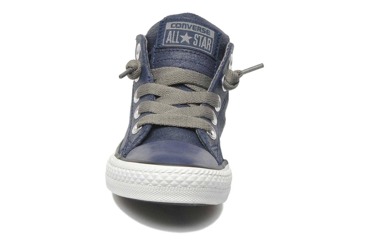 Baskets Converse Chuck taylor all star street leather mid k Bleu vue portées chaussures