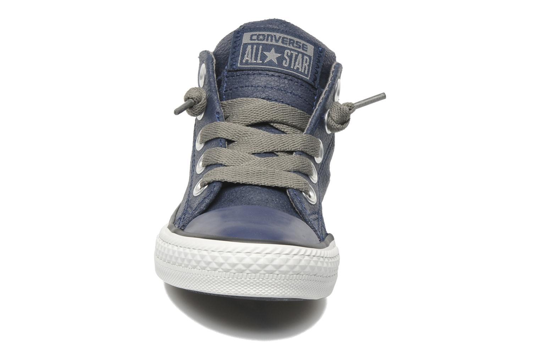 Baskets Converse Chuck taylor all star street leather mid k Bleu vue portées chaussures