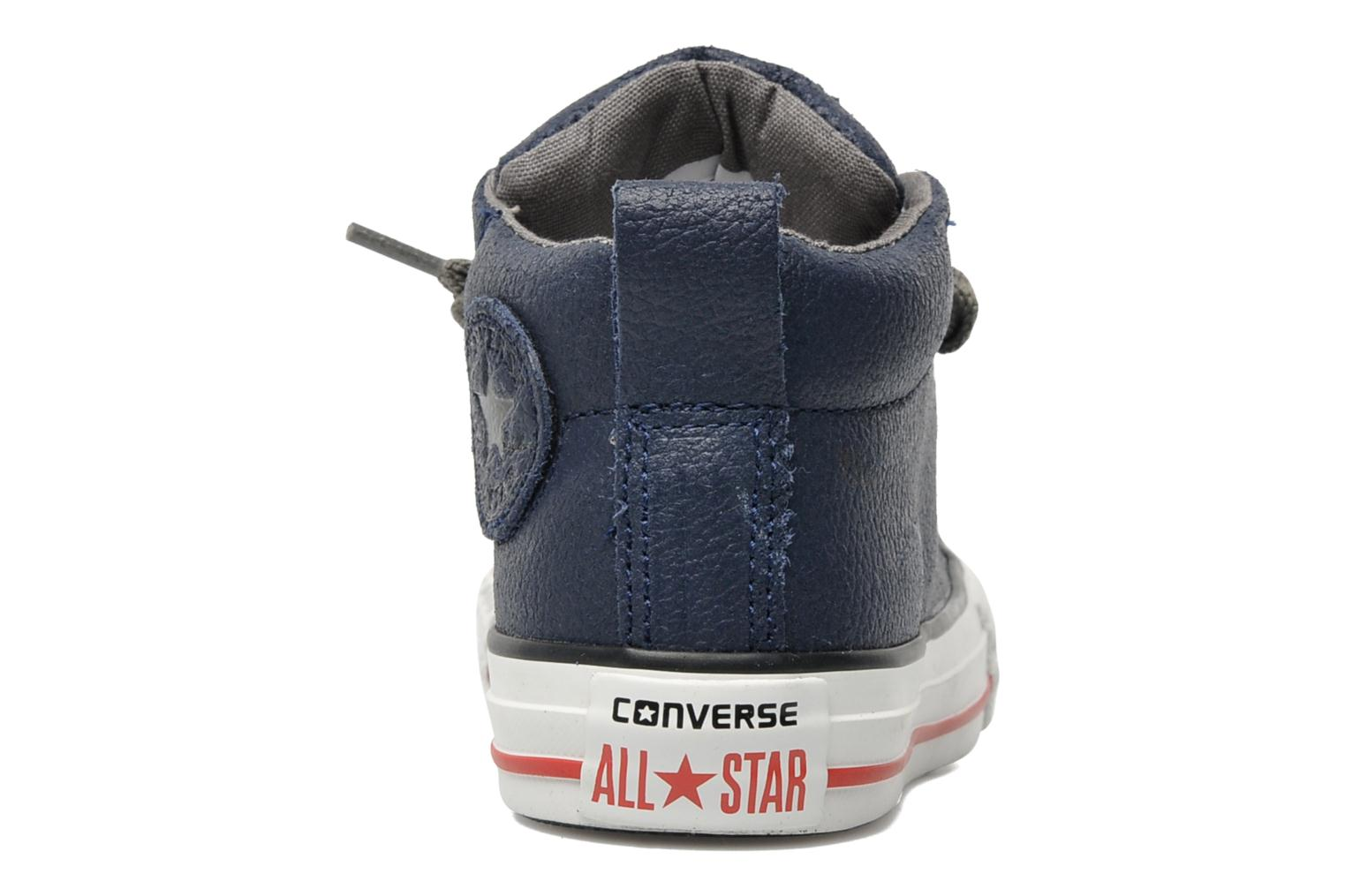 Baskets Converse Chuck taylor all star street leather mid k Bleu vue droite