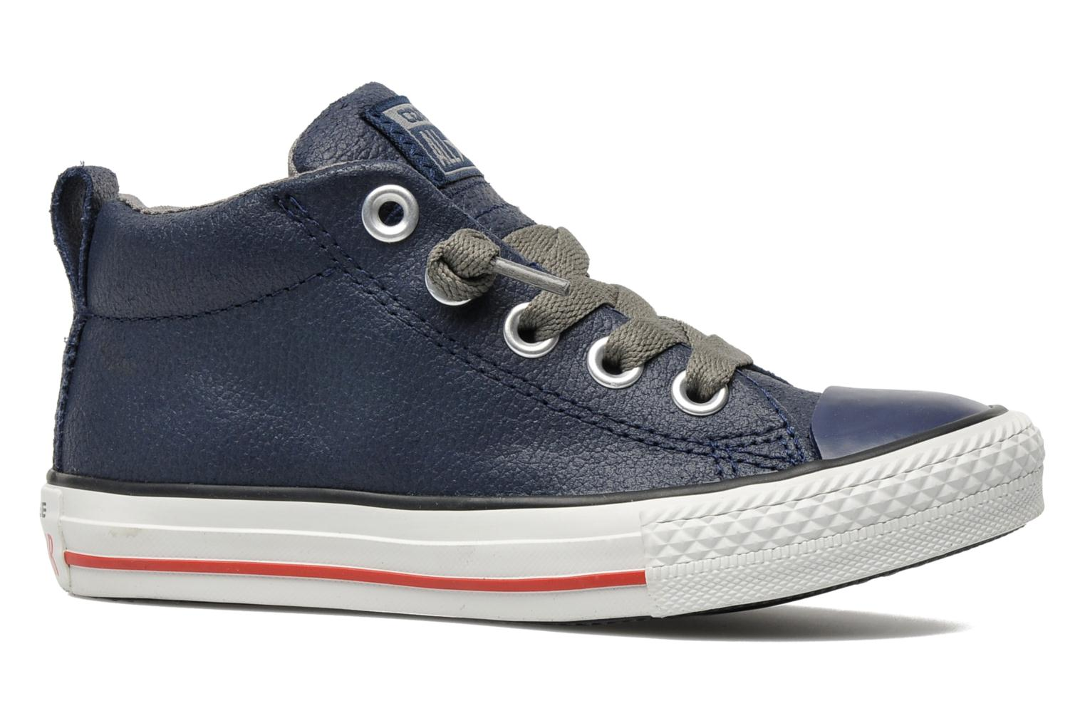 Baskets Converse Chuck taylor all star street leather mid k Bleu vue derrière