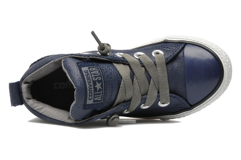 Deportivas Converse Chuck taylor all star street leather mid k Azul vista lateral izquierda