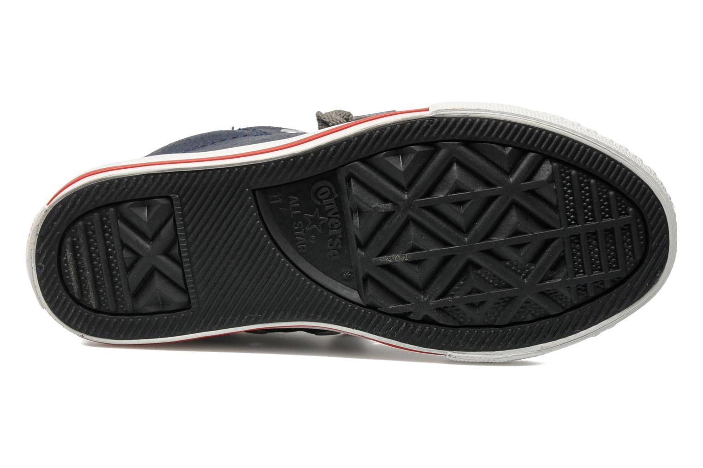 Sneaker Converse Chuck taylor all star street leather mid k blau ansicht von oben