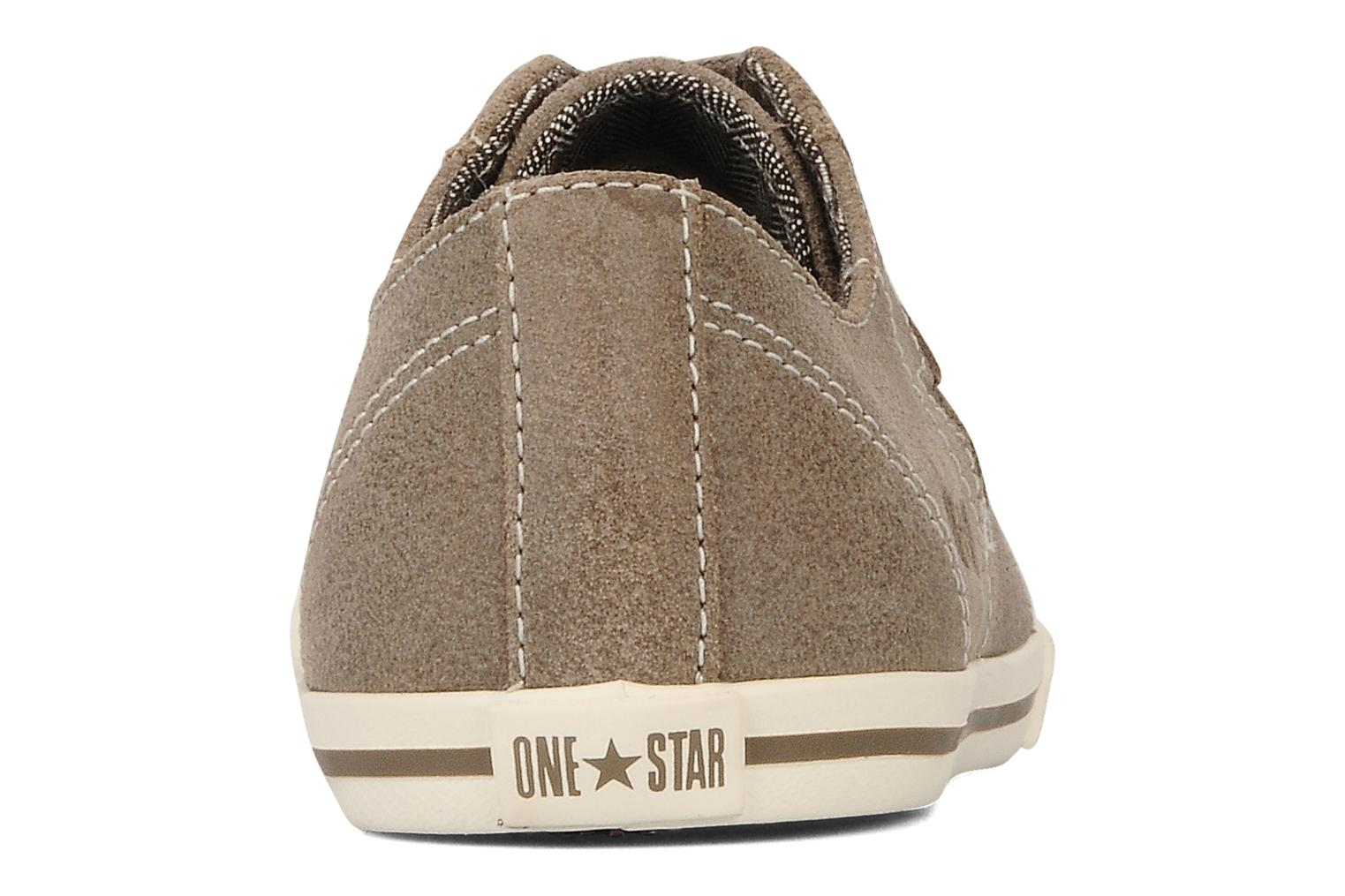 Trainers Converse One star low profile suede ox w Beige view from the right