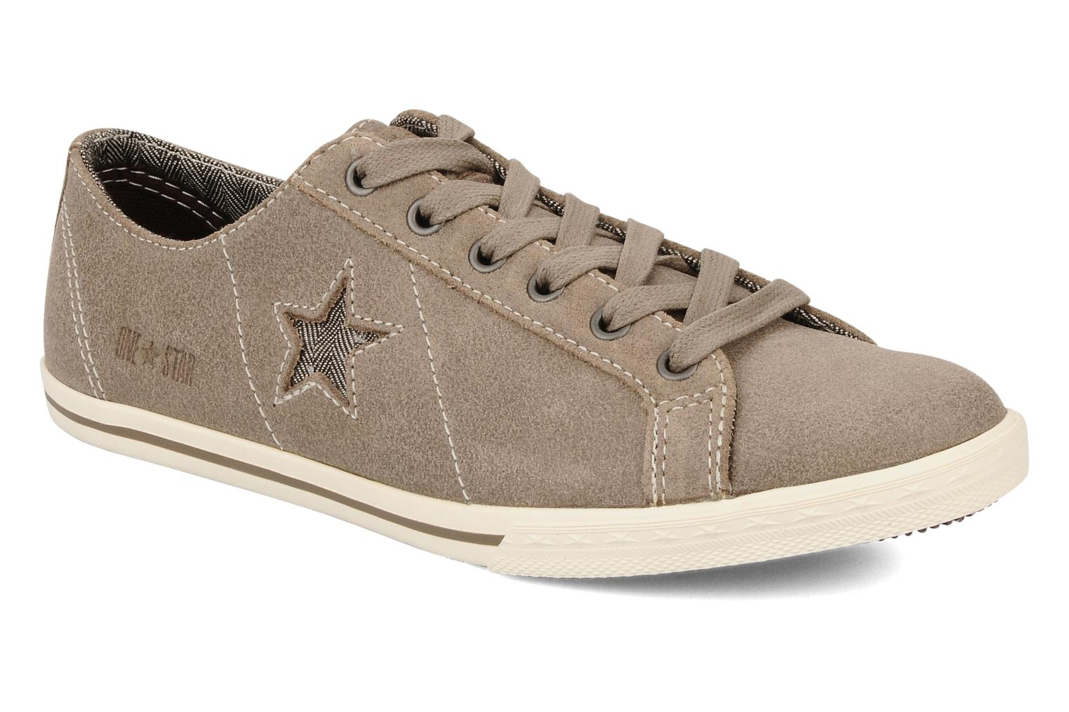 Trainers Converse One star low profile suede ox w Beige detailed view/ Pair view