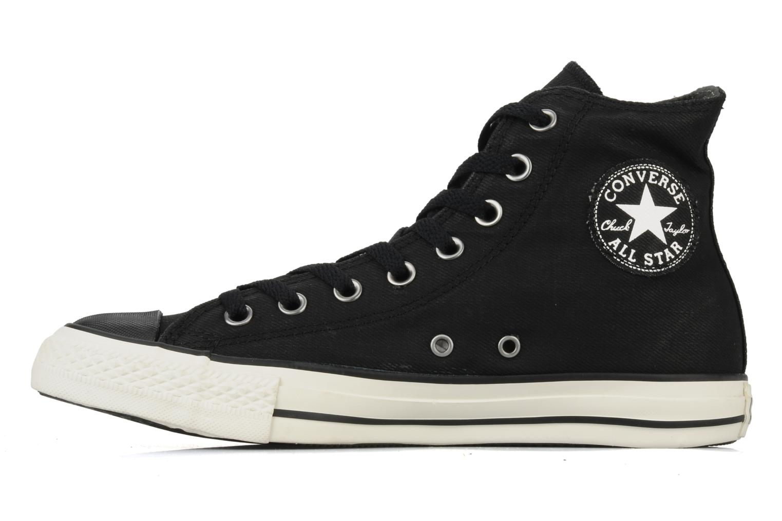 Baskets Converse Chuck taylor all star coated twill textile hi m Noir vue face