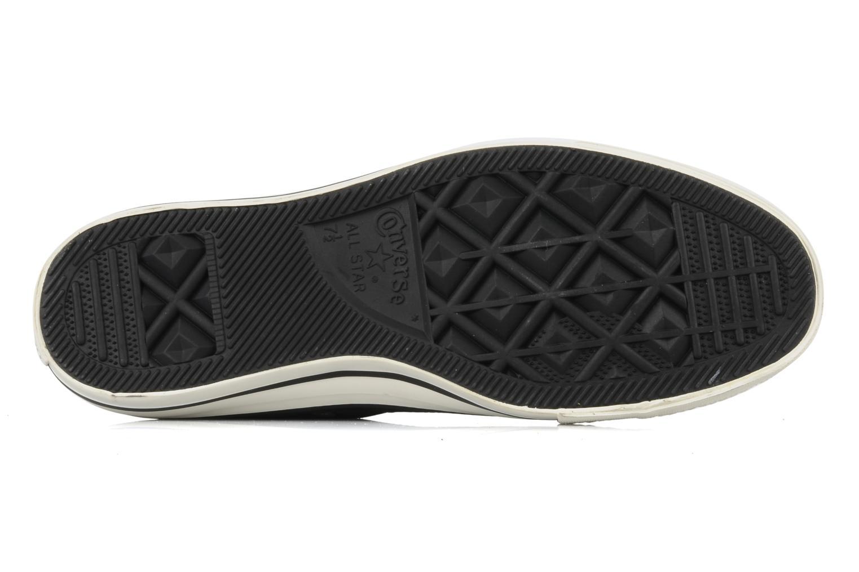 Baskets Converse Chuck taylor all star coated twill textile hi m Noir vue haut