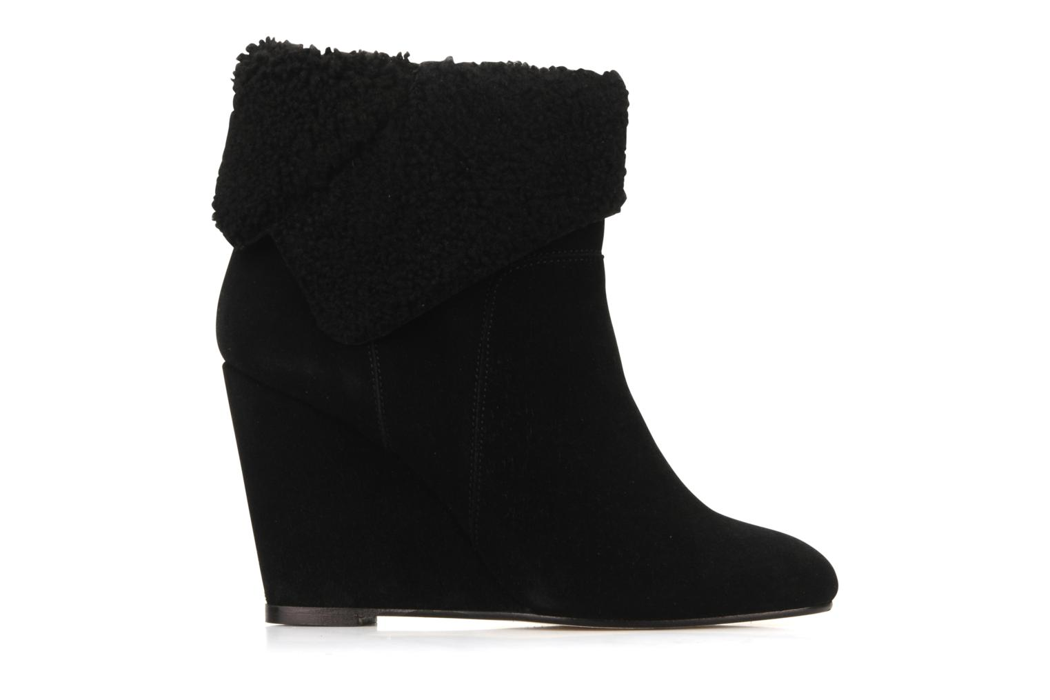 Botines  Tila March Wedge booty origami sherling Negro vistra trasera