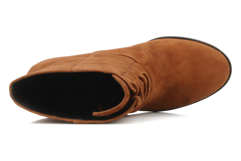 Bottines et boots Tila March Booty corolle suede Marron vue gauche