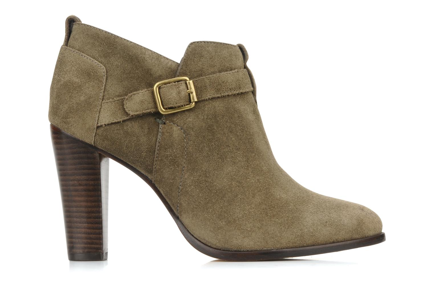 Ankle boots Tila March Booty strap suede Green back view
