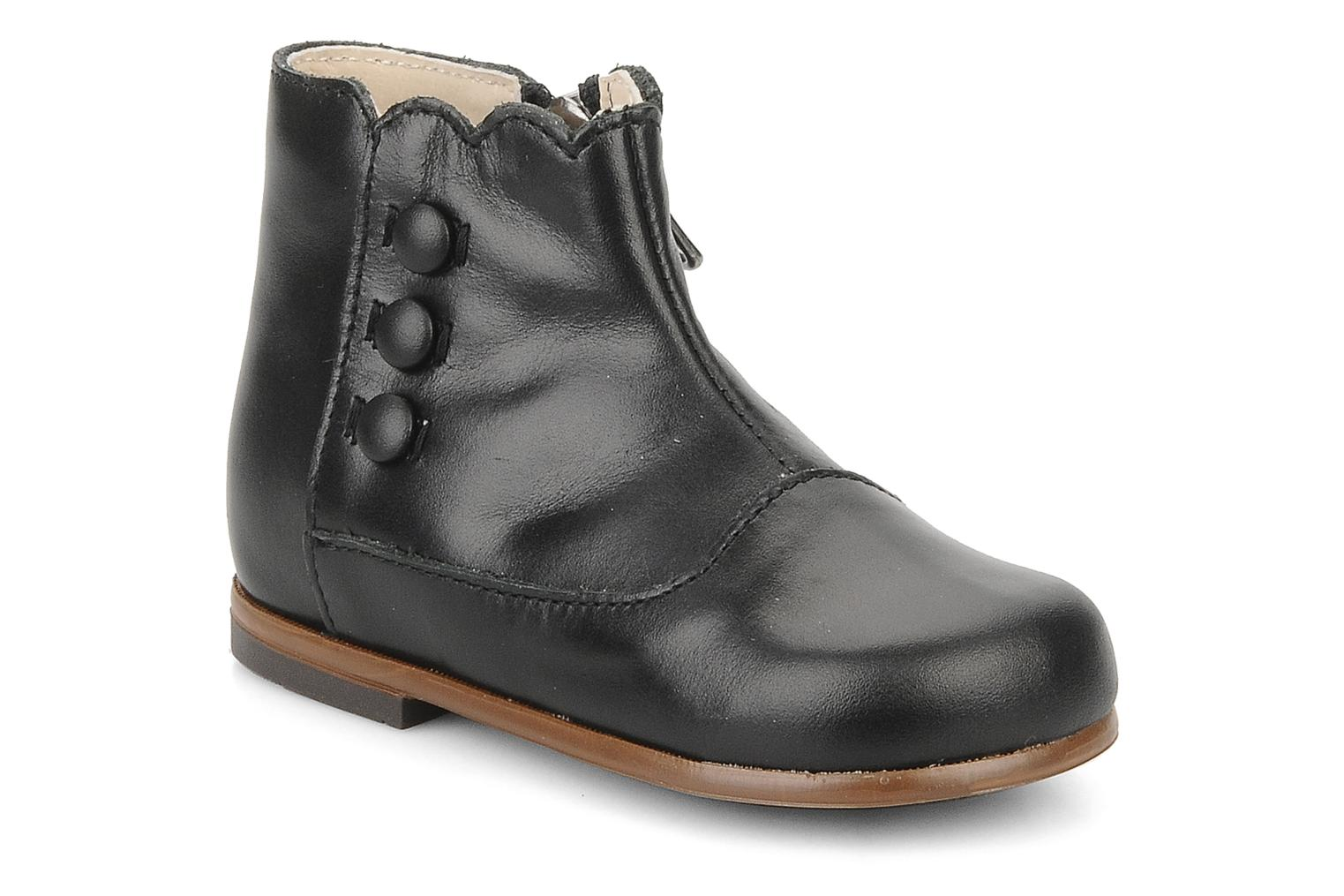 Ankle boots Little Mary Greta Black detailed view/ Pair view