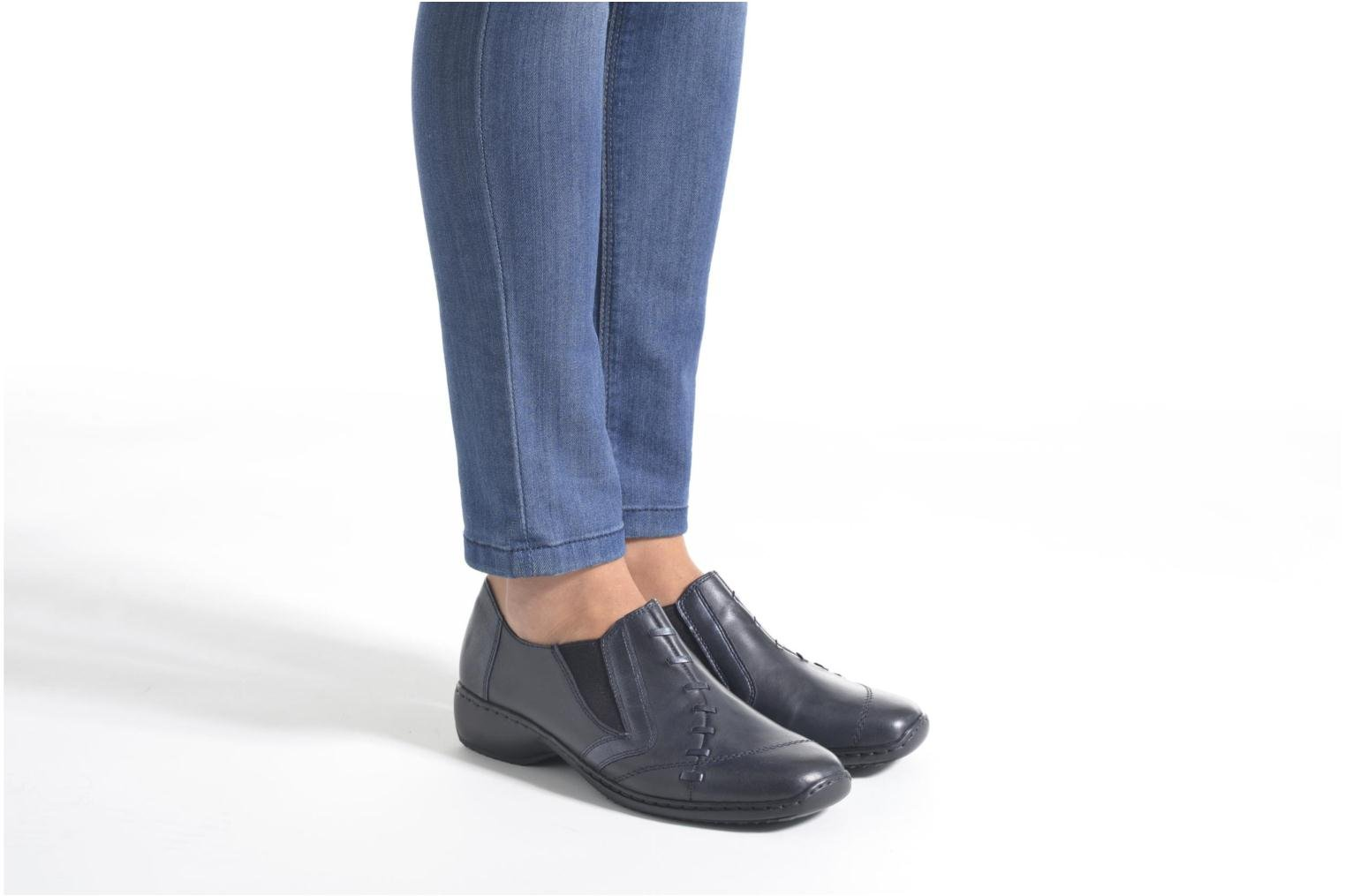 Loafers Rieker Doro L3874 Blue view from underneath / model view