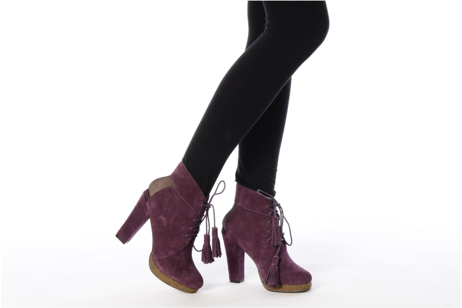 Ankle boots Friis & company Belinda Purple view from underneath / model view