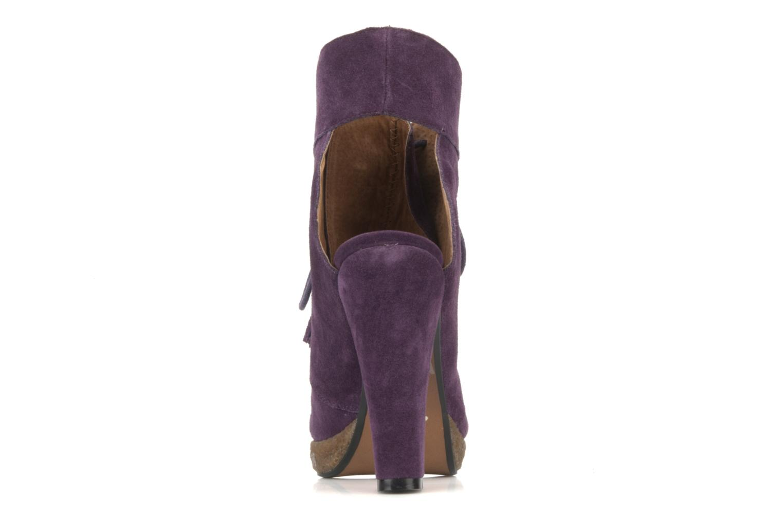 Ankle boots Friis & company Belinda Purple back view